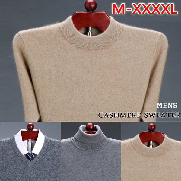 5 Colors Wool Pure Cashmere Sweater Men Pullovers Jumper for Men Turtleneck Pull Long Sleeve Man's Sweaters Thick Sweater Pullovers Pull Homme Herren