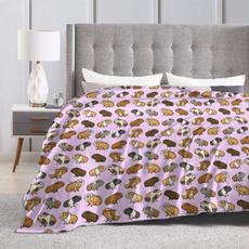 Fleece, bedblanket, guineapigprocession, antiwrinkle
