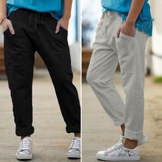 Plus Size, Waist, Elastic, pants