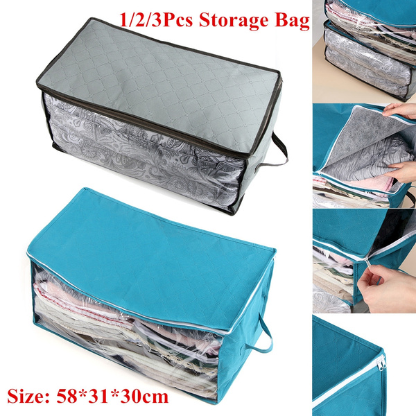 Home Supplies Wardrobe Storage Bags Clothes Organizer Anti-dust Foldable