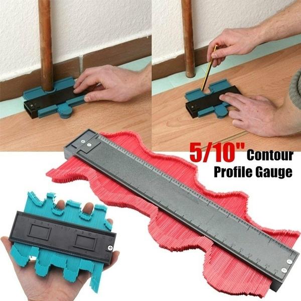 Profile Copy Gauge Contour Gauge 5//10inch  Ruler Marking Gauge Measuring Tools