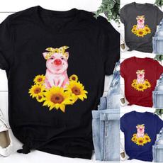 Summer, Fashion, cute, pigprint