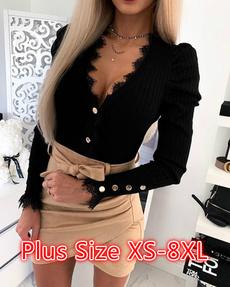Blouses & Shirts, Encaje, Women Blouse, Long Sleeve