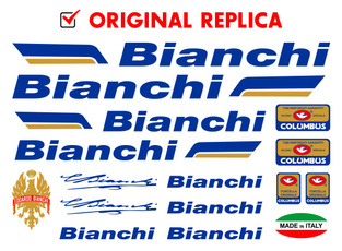 Bianchi Bike Bicycle Frame Decals Stickers Graphic Adhesive Set Vinyl White