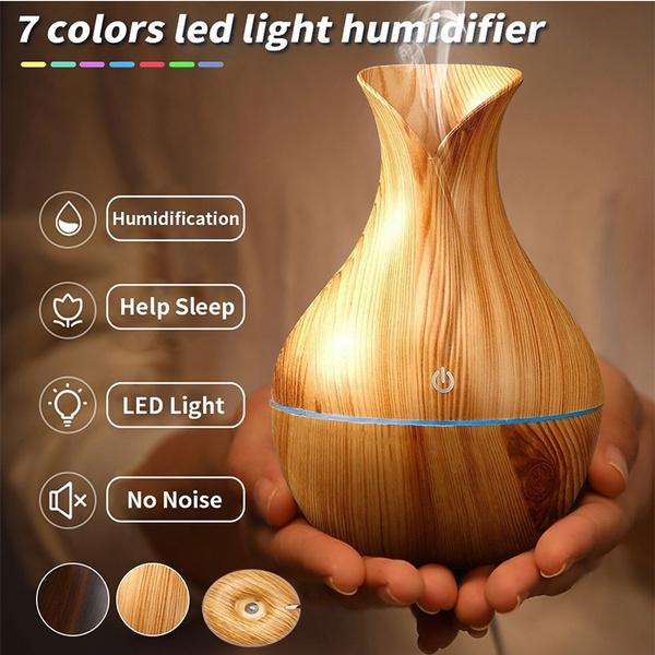Wood, essentialoilhumidifier, led, aromahumidifier