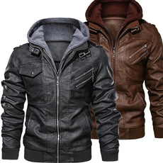 Casual Jackets, Plus Size, Winter, leather