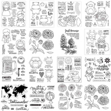 dairydecoration, transparentstampsheet, siliconestampseal, scrapbookingstamp