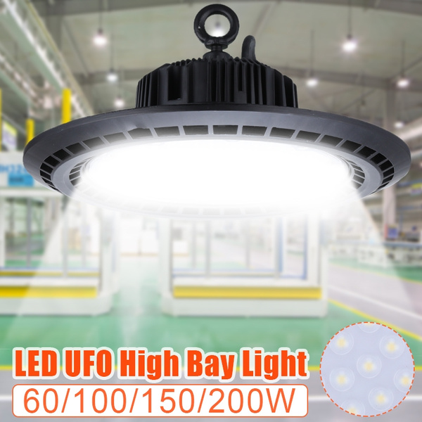 5X 100W UFO LED High Bay Light Super Bright Warehouse Garage Work Shop Lighting