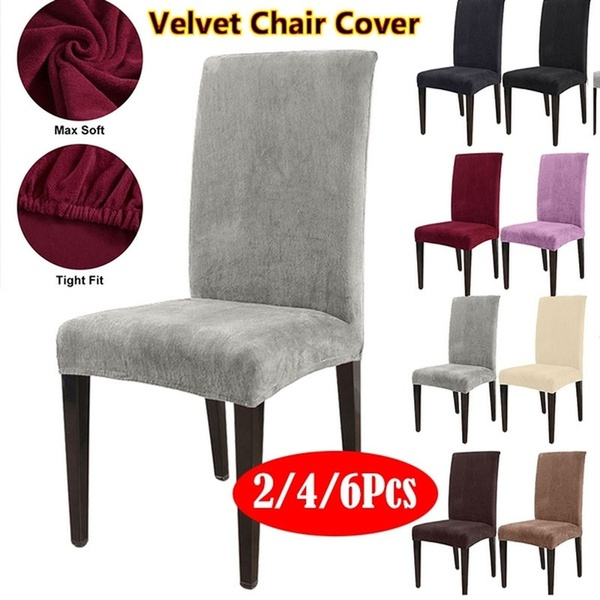 Dining Chair Covers Home Office Hotel 1//4//6pcs Stretch Seat Covers Home Decor