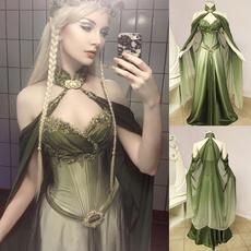 Plus Size, Medieval, chiffon, long dress