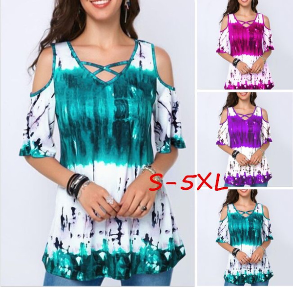 Summer, Plus Size, Spring, printed shirts