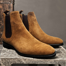 hightube, Suede, Leather Boots, Elastic