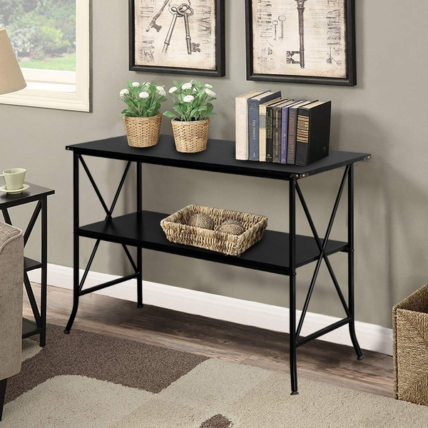 Black Console Table Sofa Side End