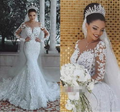 Sexy Wedding Dress, laceweddingdres, fishtailweddingdres, fish