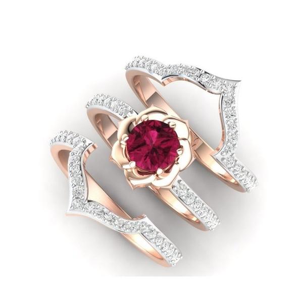 14k, DIAMOND, Princess, wedding ring