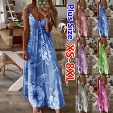 Summer, Fashion, plus size dress, Dress