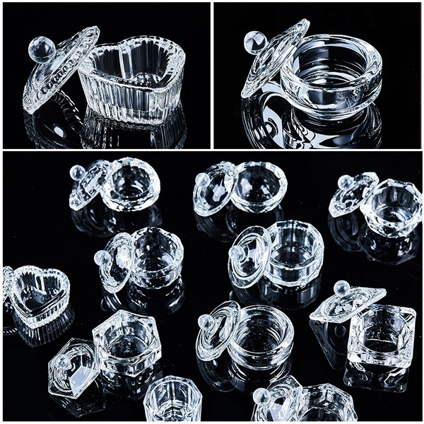 glasscup, nailpowderdish, Crystal, Fashion