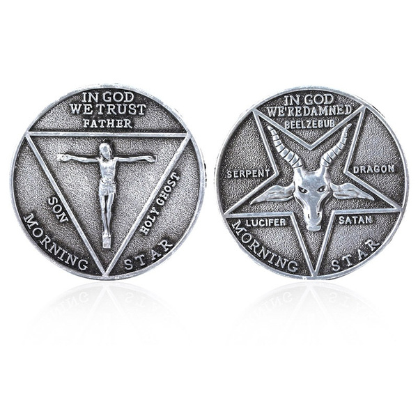 Lucifer Morning Star Pentecostal Coin Specie Cosplay Costume Props Accessories