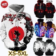 Plus Size, hooded, saiyan, Dragon Ball Z
