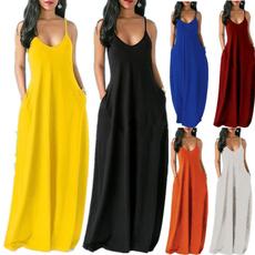 Sleeveless dress, Plus Size, Summer, long dress