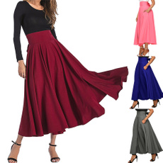 long skirt, Moda, Cintura, Faldas