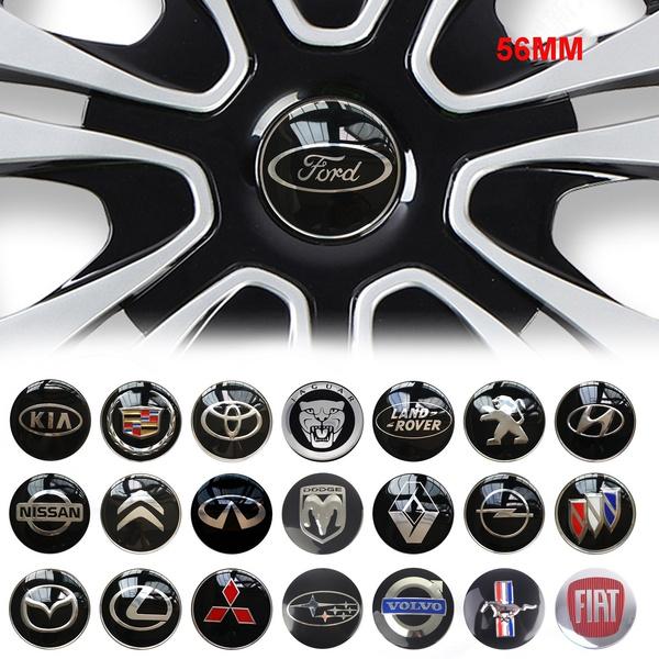 4X 56MM Car Wheel Center Hub Cap Emblem Badge Decal Sticker for Ford