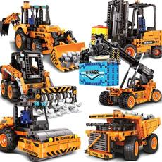 Toy, excavator, Lego, forklift