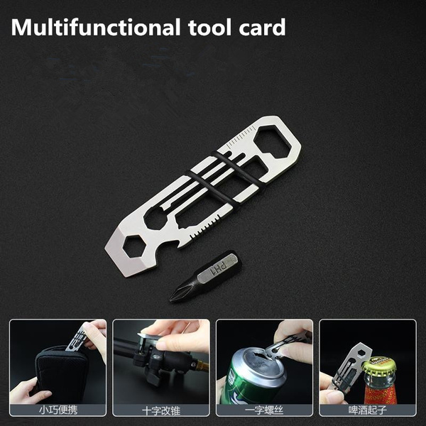 Mini Outdoor Multifunctional Gadget EDC Camping Tool  Bottle Opener Hex Wrench