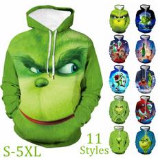 3D hoodies, Plus Size, Christmas, unisex