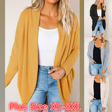 Plus Size, long sleeve sweater, sweater coat, Long Sleeve