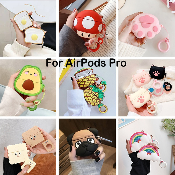 3d Earphone Case For Airpods Airpods Pro Case Silicone Stitch