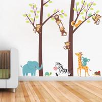 Cartoon Shar Pei Balloon Wall Sticker Lovely Dogs Decals Nursery Decals Decor JN