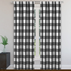 funnyshowercurtain, plaid, grommetcurtain, bathroomcurtain