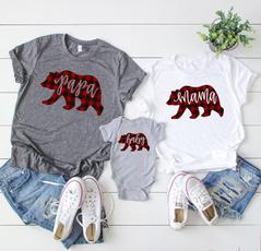 plaid, Cotton, babyromper, Family