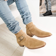 ankle boots, Fashion, workshoe, leather