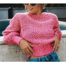 Women, pullfemme, Women Sweater, kinttedsweater