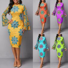 Fashion, partyevening, Long Sleeve, Dress