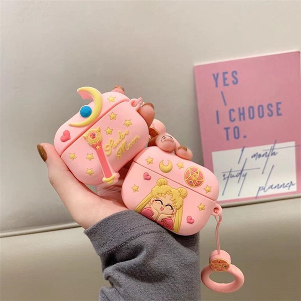 3d Sailor Moon Earphone Case For Airpods Pro Case Silicone Cute