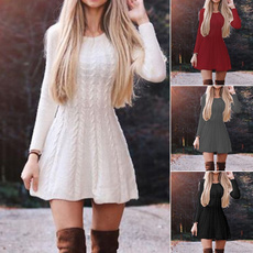 Moda, Swing dress, Long Sleeve, Vestidos