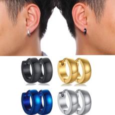 Steel, Hoop Earring, stainless steel earrings, punk earring