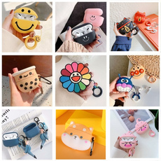 case, cute, Flowers, softsilicone