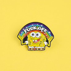 Clothing & Accessories, rainbowspongebob, Pins, rainbow