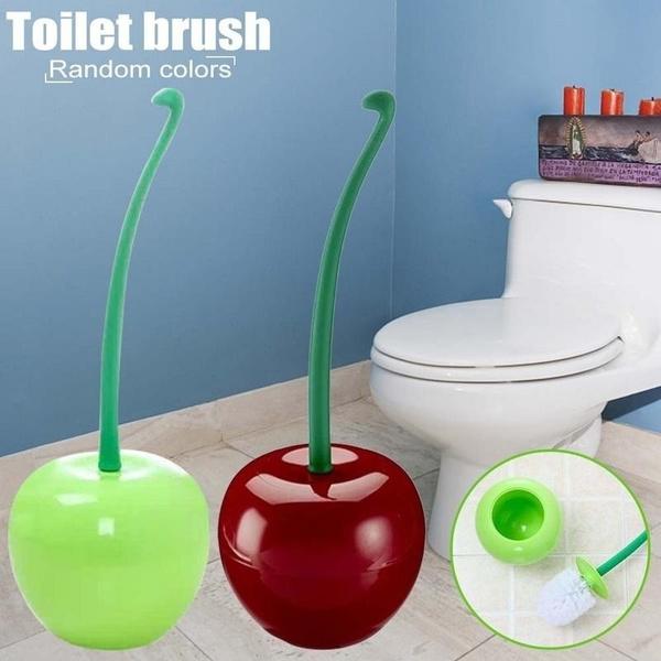 Fruit Shape Clean Tool Toilet Bathroom Toilet Brush Cleaning Toilet Brusher Set.