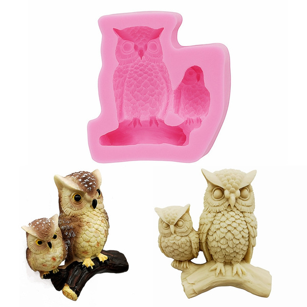 Gadgets-Owl Mold Polymer Clay Resin Steampunk Woodland Silicone Molds