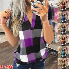 plaid shirt, blouse, womens top, Tops & Blouses