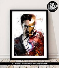 tonystark, art, Superhero, avenger