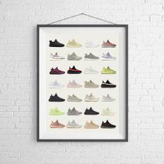 Sneakers, Basketball, kaynewest, Posters