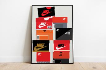 Box, digitalprint, nikeposter, Wall Art
