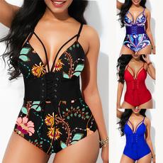 Women, Plus Size, Lace, Plus Size Swimwear