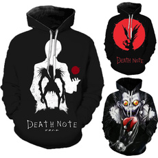 Tops & Tees, deathnote, hooded, pullover sweater